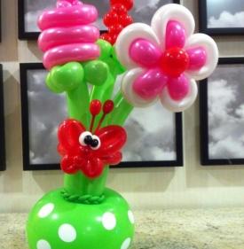 Confection de Bouquets de fleurs en ballons -067-