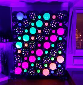 Confections de murs en Ballons Néon Black Lights -083-