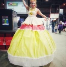 -183- La princesse en échasse