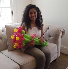 -067-    Bouquet de fleurs en ballons avec Livraison si désirez